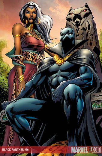 The Black Panther and Storm