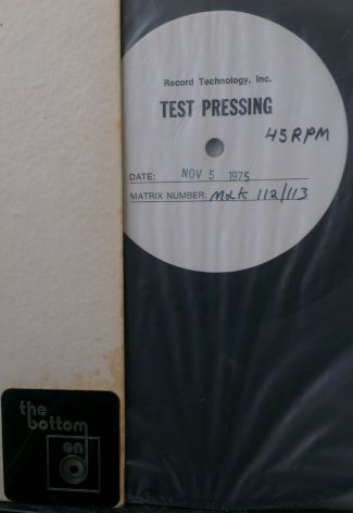 The Bottom End Test Pressing